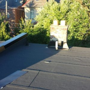 commercial roofing rolled
